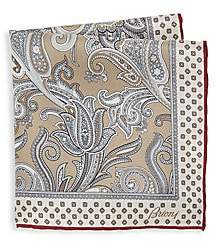Brioni Men's Paisley Silk Pocket Square