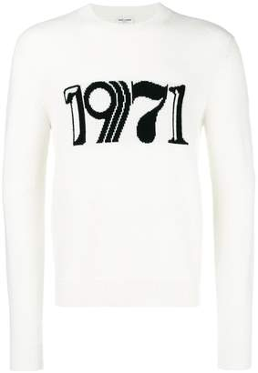 Saint Laurent 1971 embroidered sweater