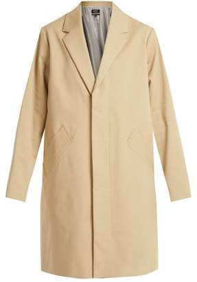 A.P.C. Silvana Single Breasted Cotton Blend Coat - Womens - Beige