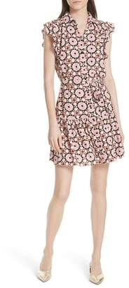 Kate Spade floral mosaic shirtdress