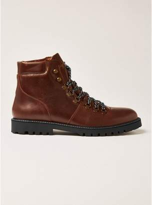 Topman Mens SELECTED HOMME Isaac Brown Leather Hiking Boots