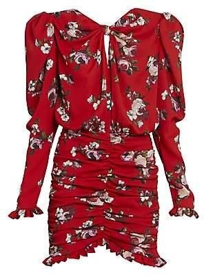 Magda Butrym Women's Ruched Silk Bow Mini Dress