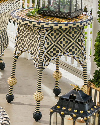 Mackenzie Childs Courtyard Outdoor End Table