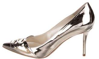 Oscar de la Renta Patent Leather Pointed-Toe Pumps
