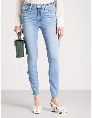 Paige Hoxton side-stripe slim-fit straight jeans