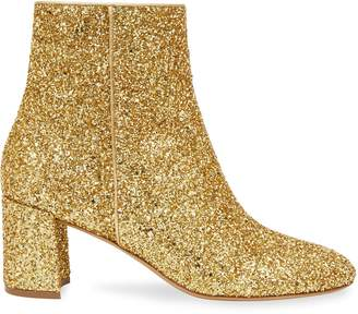 Mansur Gavriel Glitter 65MM Ankle Boot - Gold