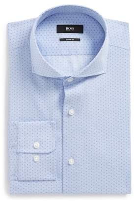 BOSS Mark Sharp Fit Dot Dress Shirt