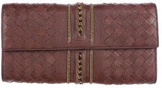 Bottega VenetaBottega Veneta Intrecciato Leather Flap Wallet