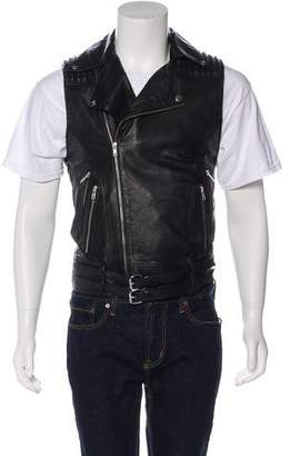 Skingraft Embellished Leather Biker Jacket