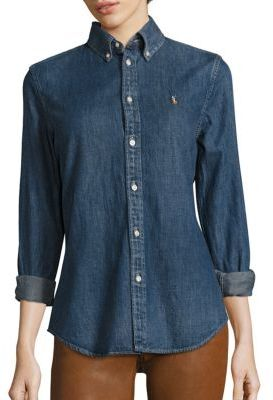 Polo Ralph Lauren Denim Shirt $125 thestylecure.com