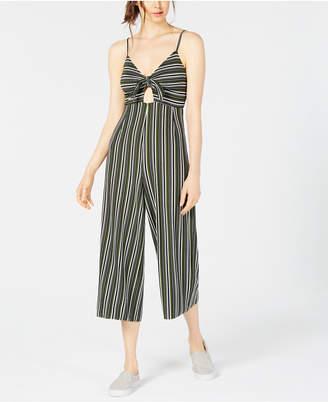 Project 28 Tie-Front Striped Jumpsuit