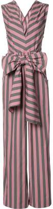 Tome Wide Stripe Sleeveless ジャンプスーツ