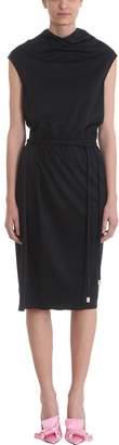 Marc Jacobs Drapped Black Cr?pe Tie Waist Dress