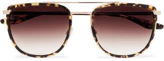 Barton Perreira Lafayette Aviator-Style Tortoiseshell Acetate and Gold-Tone Sunglasses - Men - Tortoiseshell