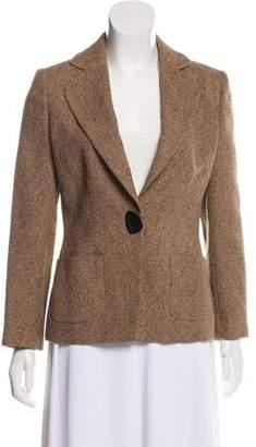 Salvatore Ferragamo Wool Patterned Blazer