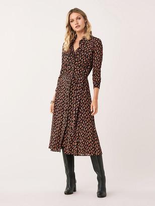 Diane von Furstenberg Andi Mesh Shirt Dress