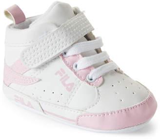 9fa908665f28 Fila Newborn Infant Girls) Pink   White High-Top Sneakers