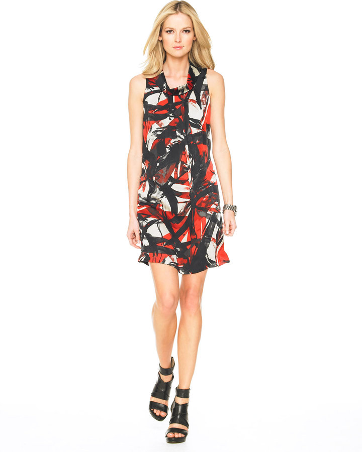 MICHAEL Michael Kors Siam Watercolor-Print Dress