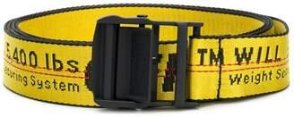 Off-White slogan buckle belt