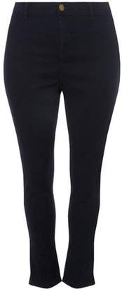 Dorothy Perkins Womens DP Curve Plus Size Indigo Fly Front Skinny Fit Jeans