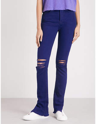 Cotton Citizen Distressed skinny high-rise jeans