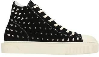 Gienchi Hi Metal Black Suede Sneakers
