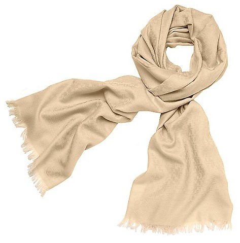 "Tory Burch Allover ""t"" Jacquard Scarf"