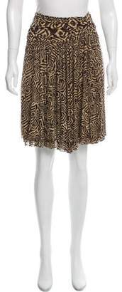 Diane von Furstenberg Ruffled Silk Skirt