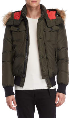 Mackage Real Fur Trim Hooded Down Coat