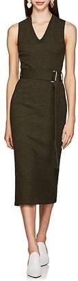 Victoria Beckham Women's Textured Wool Belted Sweaterdress - Khaki Green Melange