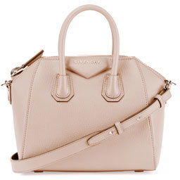 Givenchy Antigona Mini Sugar Satchel Bag, Nude Pink $1,750 thestylecure.com