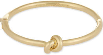 Kate Spade Sailor's knot hinged gold-plated bangle