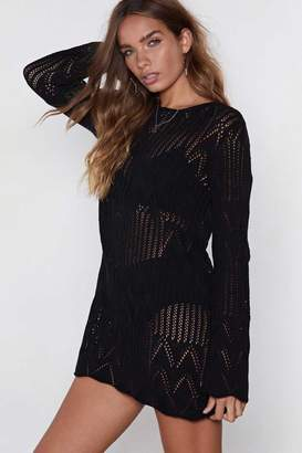 Nasty Gal Real Wavy Knit Dress
