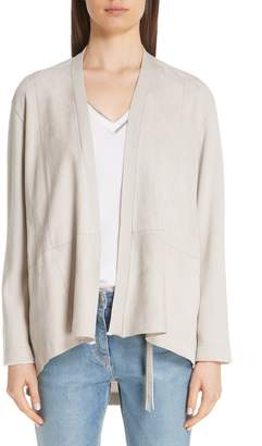Fabiana Filippi Suede, Cotton & Wool Cardigan