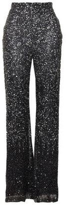 Jenny Packham Sequined Tulle Flared Pants