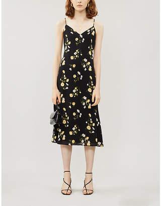 Reformation Dietrich floral-print crepe midi dress