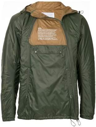 Kolor zipped contrast jacket