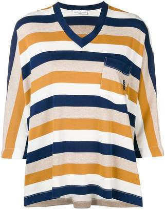 Sonia Rykiel striped V-neck blouse
