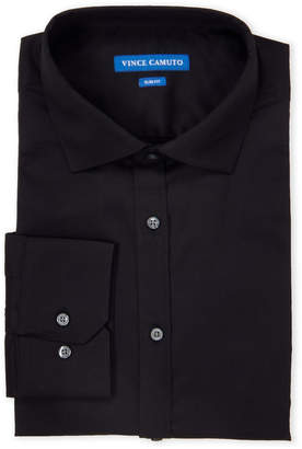 Vince Camuto Black Slim Fit Comfort Stretch Dress Shirt