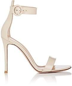 Gianvito Rossi Women's Portofino Patent Leather Ankle-Strap Sandals - Cream