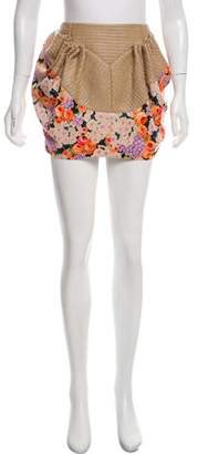 DELPOZO Floral Print Mini Skirt