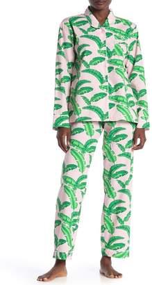 SANT AND ABEL Tropical Pants & Shirt Pajama 2-Piece Set