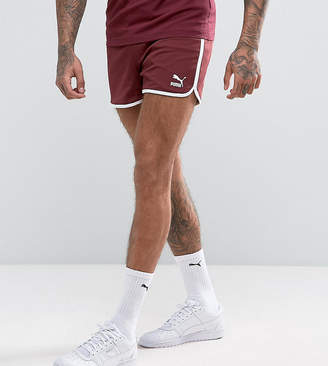 Puma Retro Mesh Shorts In Red Exclusive to ASOS