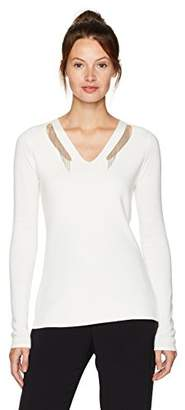 T Tahari Women's Embellished Micky Sweater