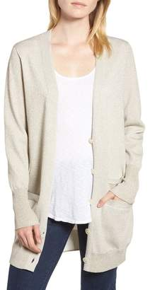 J.Crew J. Crew Collection Long Cardigan in Double Knit Lurex(R) (Plus Size)