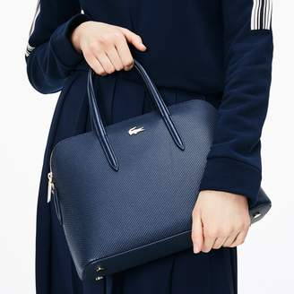 Lacoste Women's Chantaco Dual Carry Pique Leather Bugatti Bag