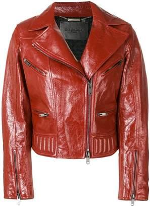 Givenchy varnished biker jacket