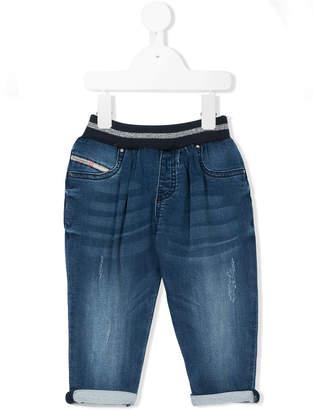 Diesel elasticated waistband jeans