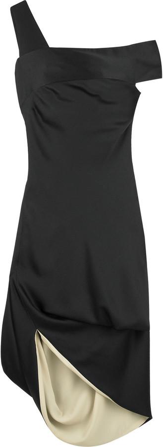 Alexander McQueen Satin one-shoulder dress
