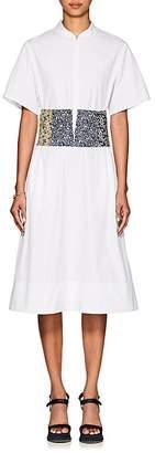 CFGOLDMAN Women's Cotton Poplin Corset Dress
